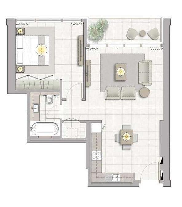 floor plan num. 2402