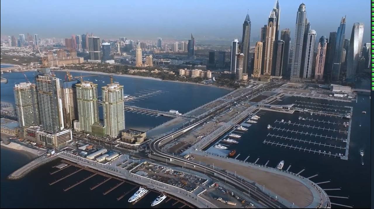 Emaar Beachfront Drone Video 4K